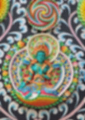 Torma Grüner Tara. Bodhaya, Indien. Buddhistisches Meditation Seminar mit Mahametta
