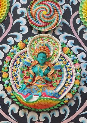 Torma de Tara Verde, Bodhaya, India. Taller de meditación budista con Mahametta Akademie