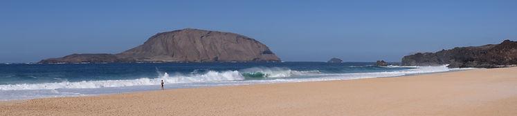 Beach in Lanzarote. Spiritual Travels wih Mahametta and Geoviva
