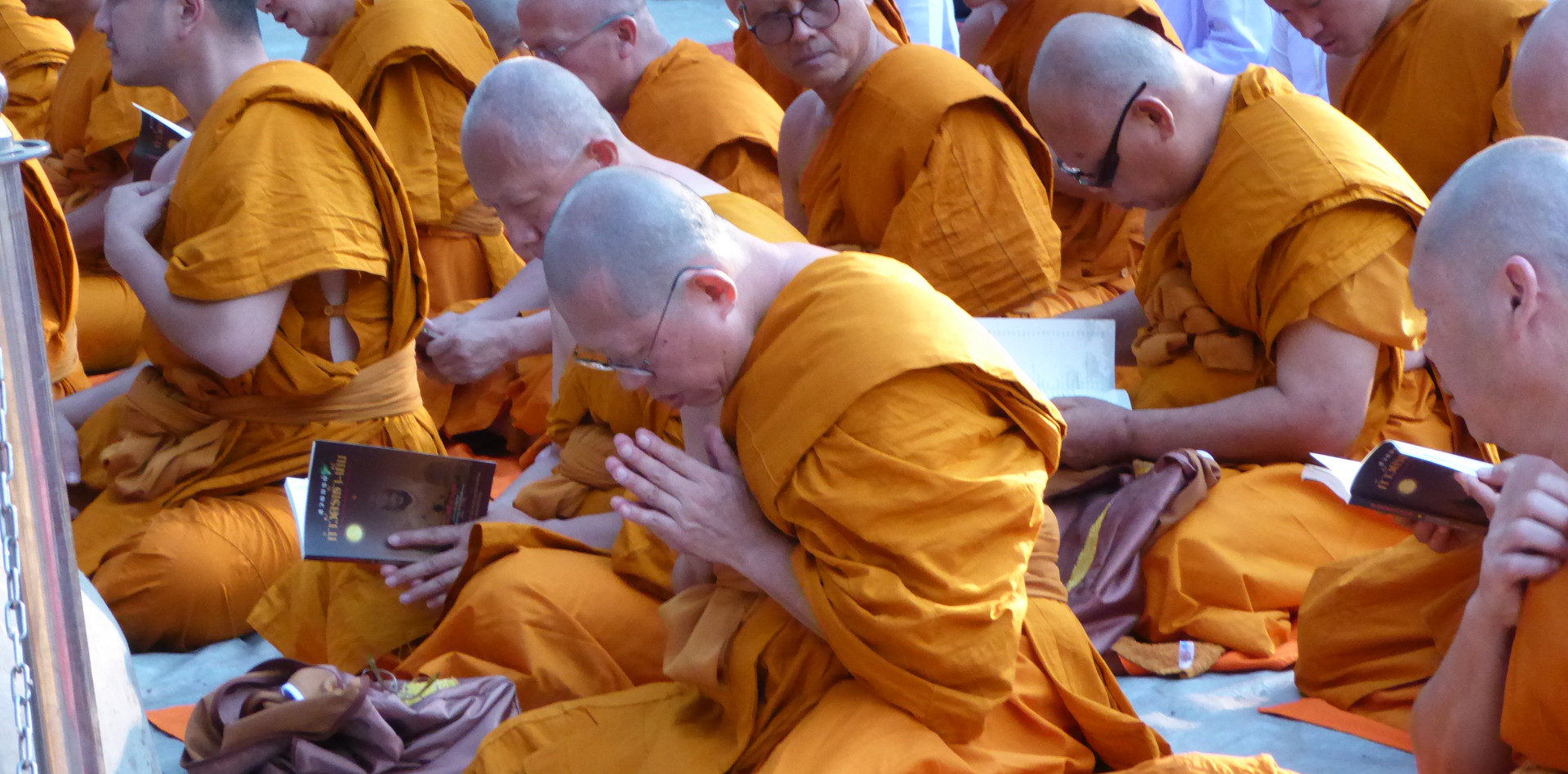 Thai devotees praying
