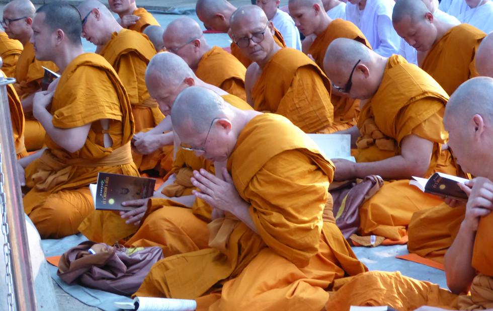 Thai Mönche in Bodhgaya