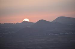 Sonneuntergang in Lanzarote. Schaman