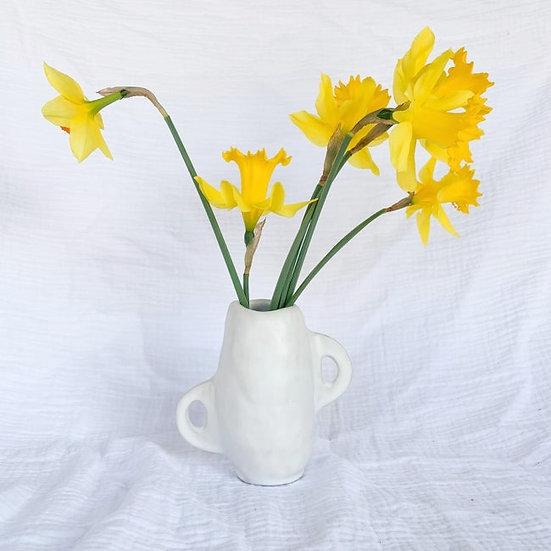 Zoé Jane ~ Milo mat white vase
