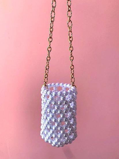 Valentina ~ pearls necklace bag