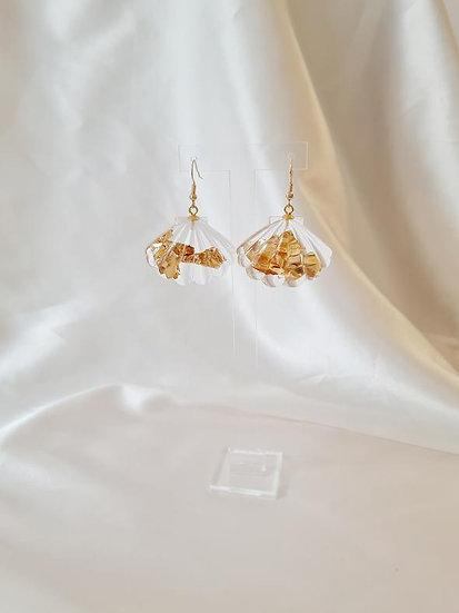 Maison Kurage ~ Boucles coquillage gold