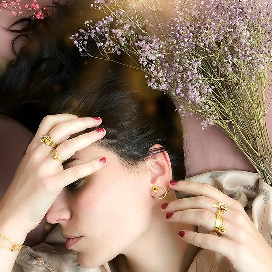 Marie Gold ~ mini roses gold