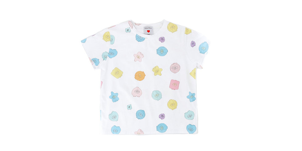 Léopoldine Chateau ~ tee-shirt blanc polly pocket