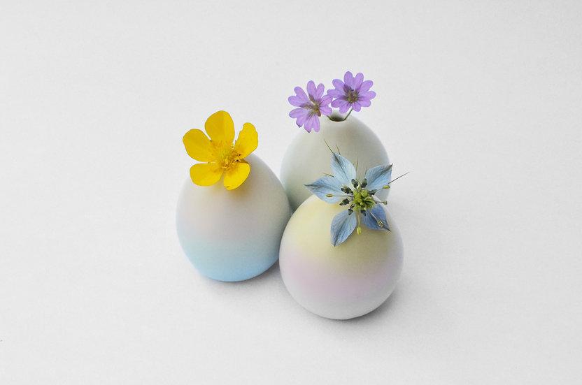Monochromatiques ~ 3 vases colorés