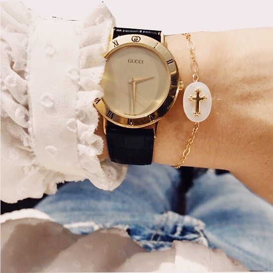 Camille Colette ~ Bracelet nacre & croix
