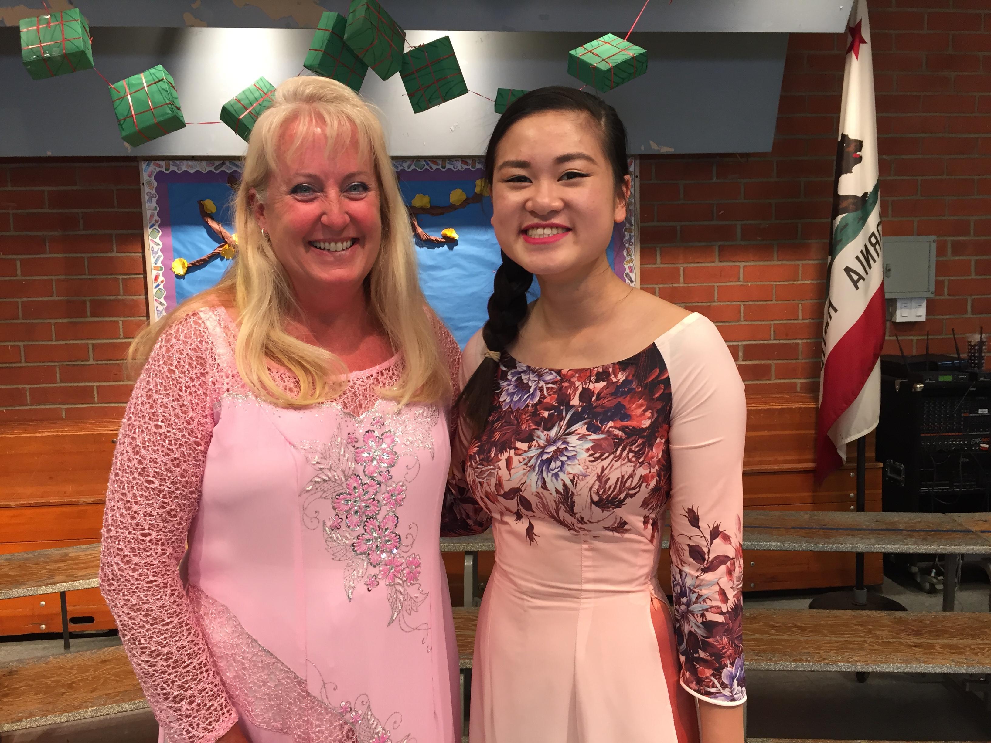 PATTY PELTON & JOSEPHINE NGUYEN - 2016 - Josephine former kindergarten teacher