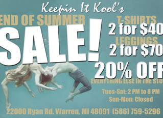 END OF SUMMER SALE **IN-STORE ONLY**
