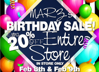BIRTHDAY SALE!!!