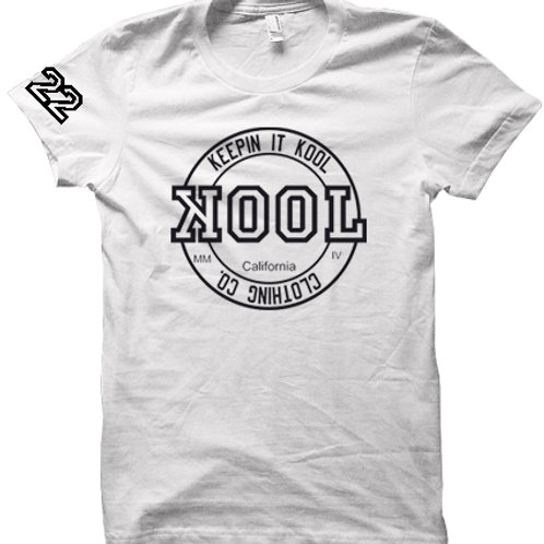 """CALI LOVE"" Kool Look Tee (White/Black)"