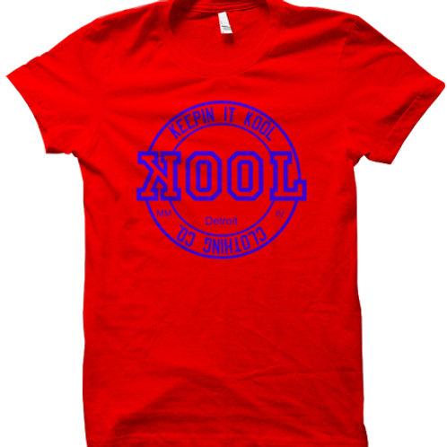 Kool Look Tee (Red/Royal)