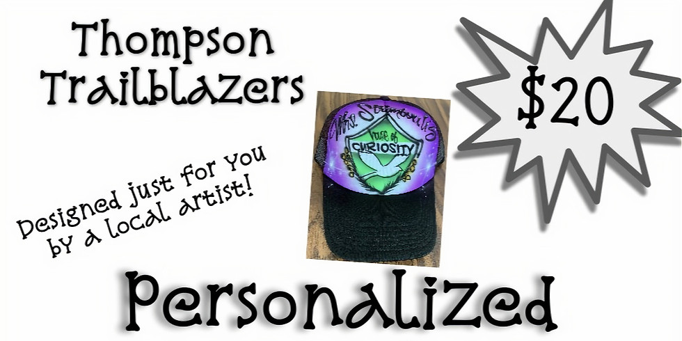 Personalized Airbrushed Hats Fundraiser!!!