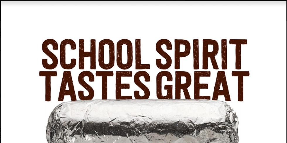 Chipotle Fundraiser - School Spirit Tastes Great!