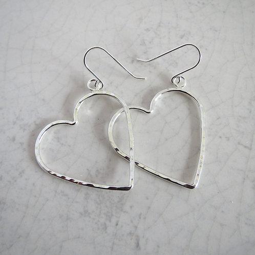 Wire Heart Drop Earring