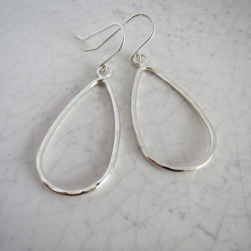 Wire Teardrop Drop Earring