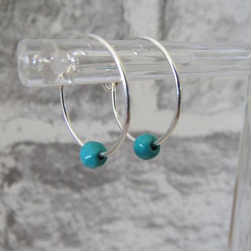 Turquoise Bead Hoop