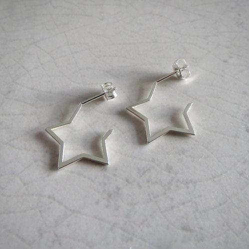 Star Hoop Earring