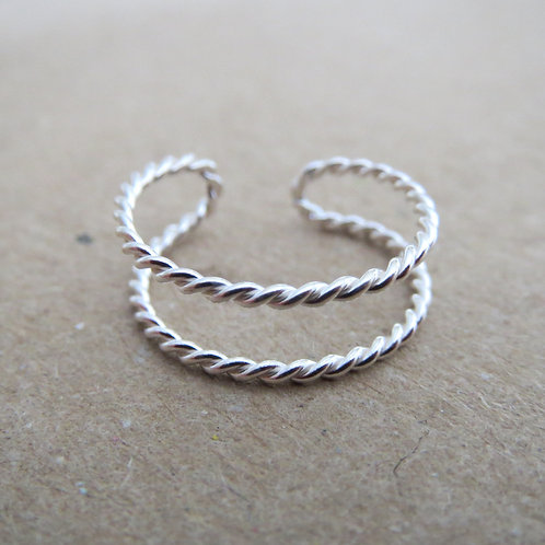 Twisted Double Band Toe Ring