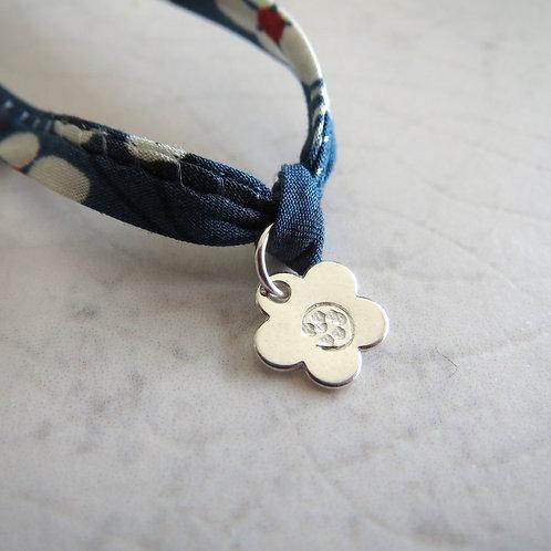Liberty Fabric Bracelet - Mitzi Blue