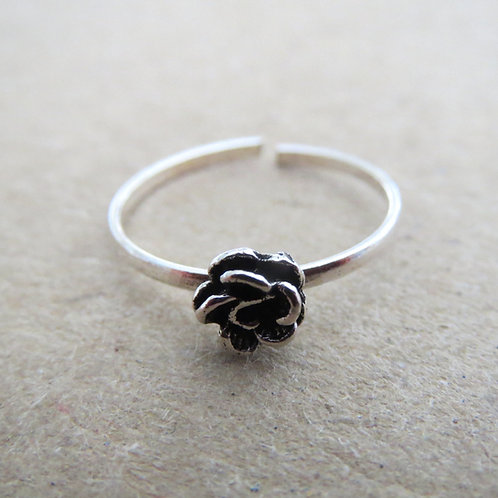 Rose Toe Ring