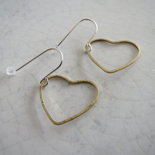 Brass Wire Heart Hook