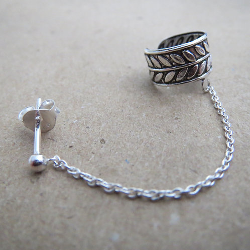 Twine Ear Cuff with Chain