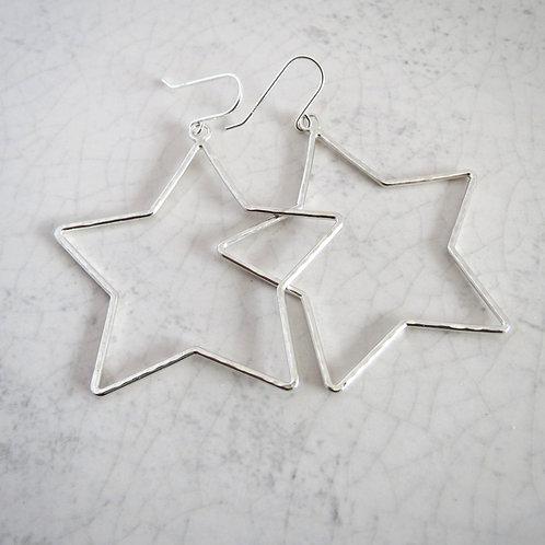 Wire Star Drop Earring