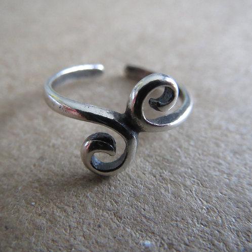 Swirls Toe Ring