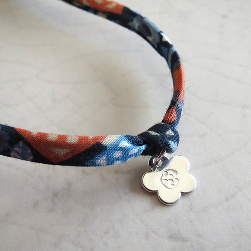 Liberty Fabric Bracelet - Blue Print