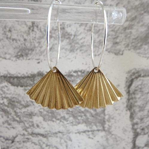 Brass Fan Hoop