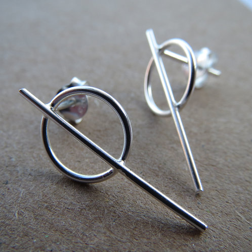 Geometric Short Drop Earring