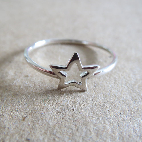 Open Star Ring