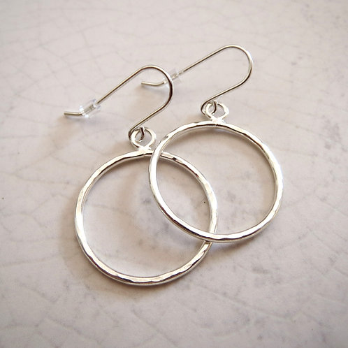 Wire Circle Drop Earring