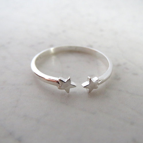 Double Star Toe Ring