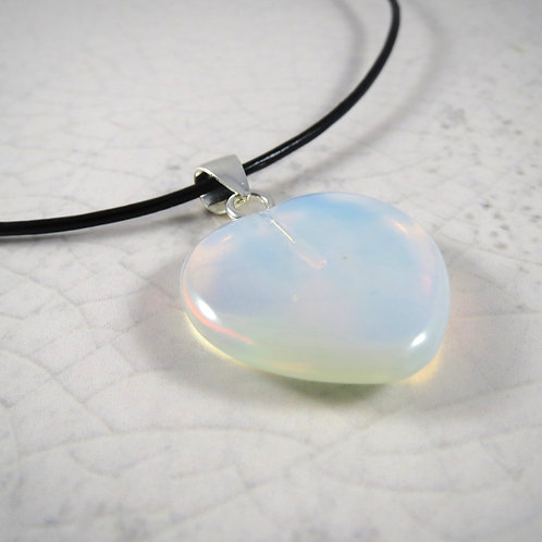 Opalite Leather Necklace