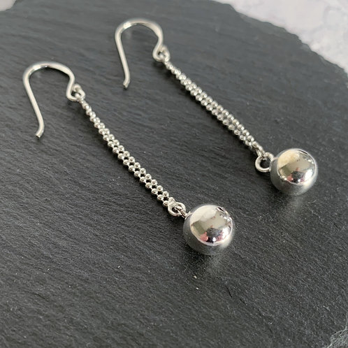 Bead Drop Ball Earring
