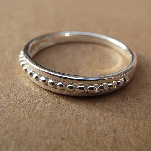 Beaded Band Ring