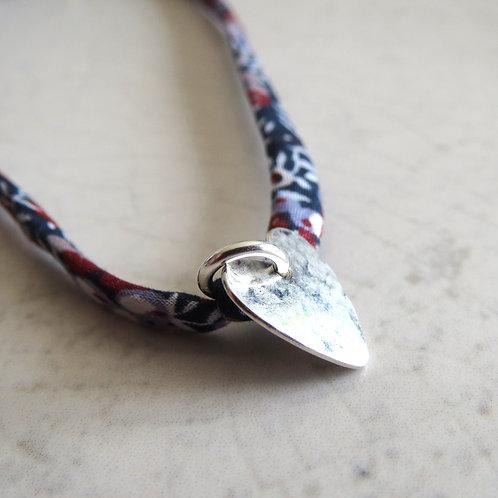 Liberty Fabric Bracelet - Wilmslow Berry