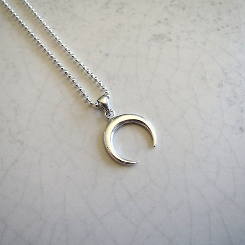 Crescent Moon Necklace - Style 1