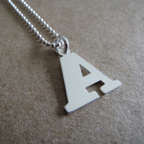 Initial Necklace A-M