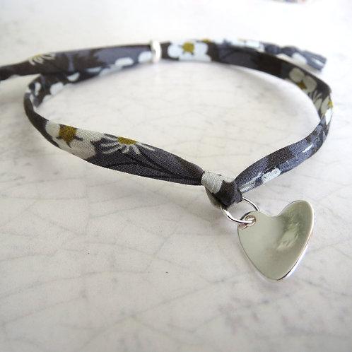 Liberty Fabric Bracelet - Mitsi Grey