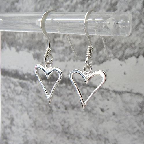 Open Heart Drop Earring