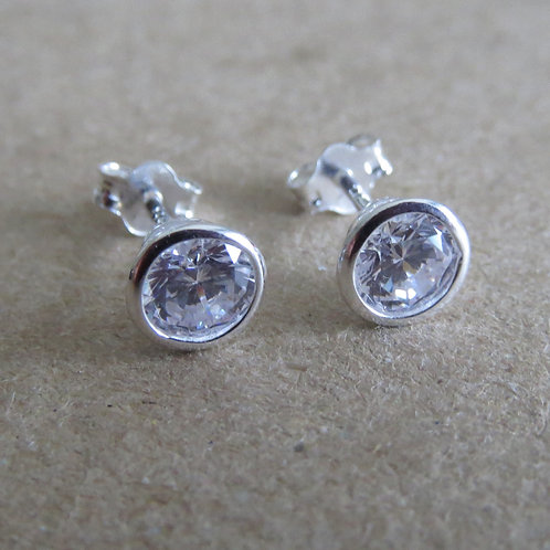 Cubic Zirconia Stud - 5mm