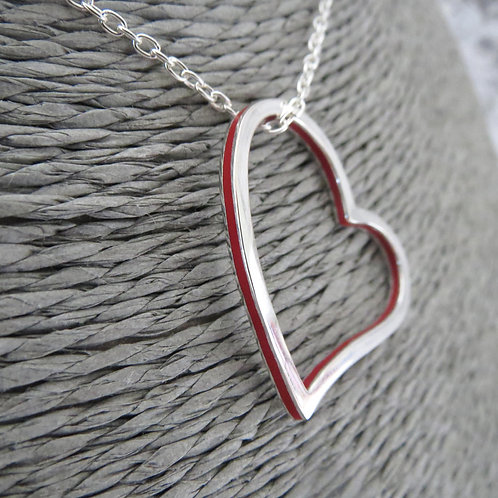 Scarlet Heart Long Necklace