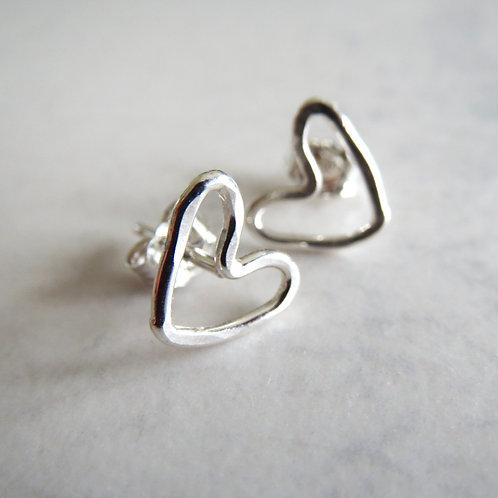 Wire Heart Stud