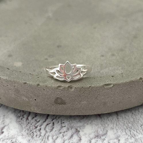 Lotus Toe Ring