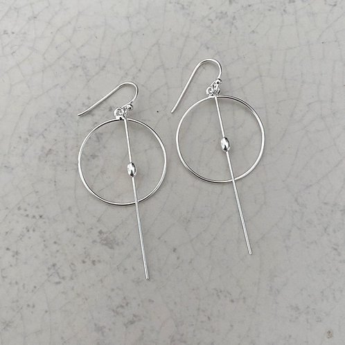 Circle Bar Drop Earring